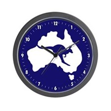 Cute Kangaroo Wall Clock