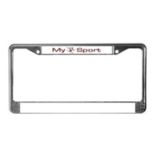 My Sport - Skiing License Plate Frame