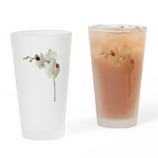 Lady Bug Orchid Drinking Glass