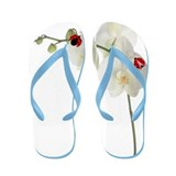 Lady Bug Orchid Flip Flops