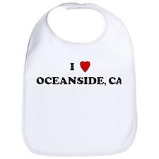 I Love Oceanside Bib