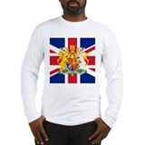UK Flag and Coat of Arms Long Sleeve T-Shirt