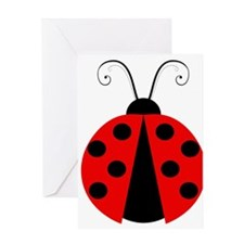 Spotted Lady Bug Greeting Card