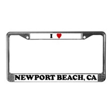 I Love Newport Beach License Plate Frame