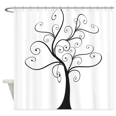 Swirly Tree Shower Curtain by NaturesLittleTreasures