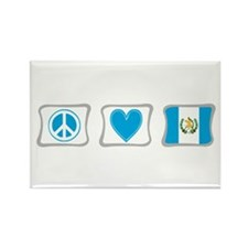 Peace, Love and Guatemala Rectangle Magnet
