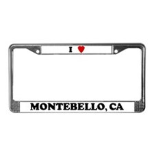 I Love Montebello License Plate Frame