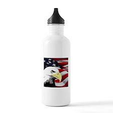 American Flag/Bald Eagle Sports Water Bottle
