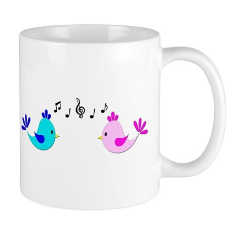 Musical Love Birds Mug
