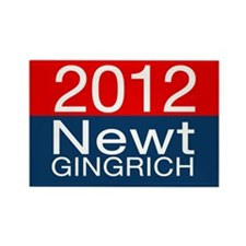 Newt Gingrich 2012 Rectangle Magnet (10 pack)