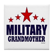 Military Grandmother Tile Coaster
