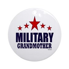 Military Grandmother Ornament (Round)
