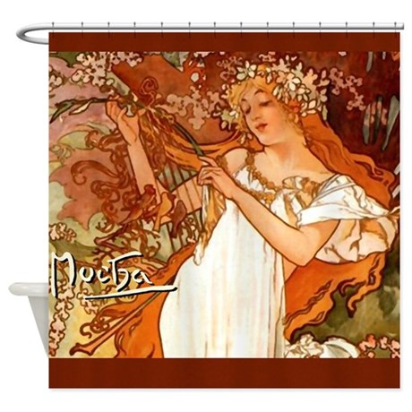 Spring Alphonse Mucha Shower Curtain