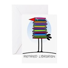 Retired Librarian Greeting Cards (Pk of 10)