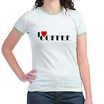 I LOVE FREEDOM COFFEE™ Jr. Ringer T-Shirt
