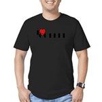 I LOVE FREEDOM COFFEE™ Men's Fitted T-Shirt (dark)
