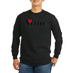 I LOVE FREEDOM COFFEE™ Long Sleeve Dark T-Shirt