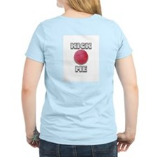 Kickball Kick Me (Back & Front Design) Women's Pin