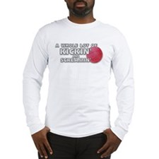 Screaming Kickball (Front) Long Sleeve T-Shirt