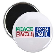 "Peace Love Ron Paul 2.25"" Magnet (100 pack)"