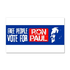 Free People for Ron Paul Car Magnet 20 x 12