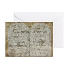 Ten Commandments 10 Laws Desi Greeting Cards 10Pk