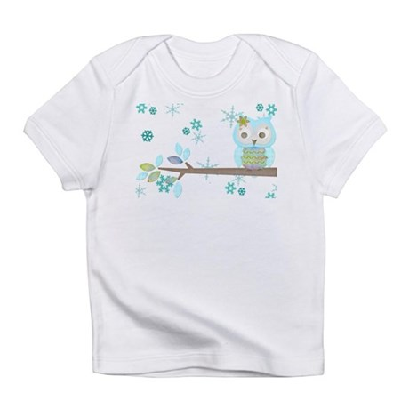 Winter Snowflake Owl in Tree Infant T-Shirt