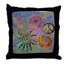 Throw Pillow chakra symbols
