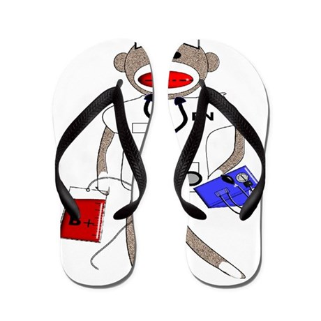 Sock Monkey Flip Flops