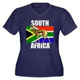 South Africa Springbok Women's Plus Size V-Neck Da