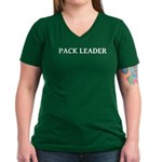Pack Leader Women's V-Neck Dark T-Shirt