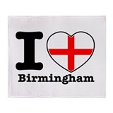 I love Birmingham Throw Blanket
