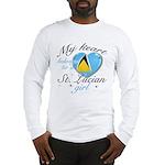 St. Lucian Valentine's designs Long Sleeve T-Shirt