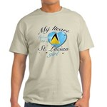 St. Lucian Valentine's designs Light T-Shirt