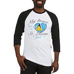 St. Lucian Valentine's designs Baseball Jersey