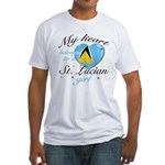 St. Lucian Valentine's designs Fitted T-Shirt