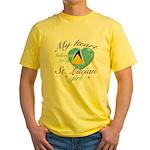 St. Lucian Valentine's designs Yellow T-Shirt