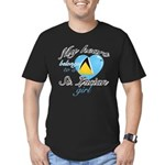 St. Lucian Valentine's designs Men's Fitted T-Shir