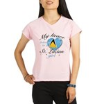 St. Lucian Valentine's designs Performance Dry T-S
