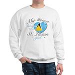St. Lucian Valentine's designs Sweatshirt