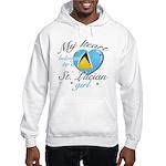 St. Lucian Valentine's designs Hooded Sweatshirt