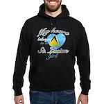 St. Lucian Valentine's designs Hoodie (dark)
