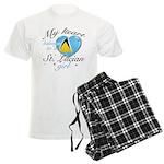St. Lucian Valentine's designs Men's Light Pajamas