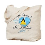 St. Lucian Valentine's designs Tote Bag