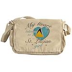 St. Lucian Valentine's designs Messenger Bag