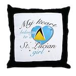 St. Lucian Valentine's designs Throw Pillow