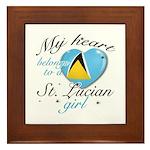 St. Lucian Valentine's designs Framed Tile