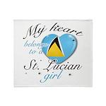 St. Lucian Valentine's designs Throw Blanket