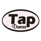 Tap Dancer Oval  Aufkleber