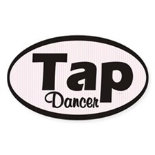 Tap Dancer Oval Stickers